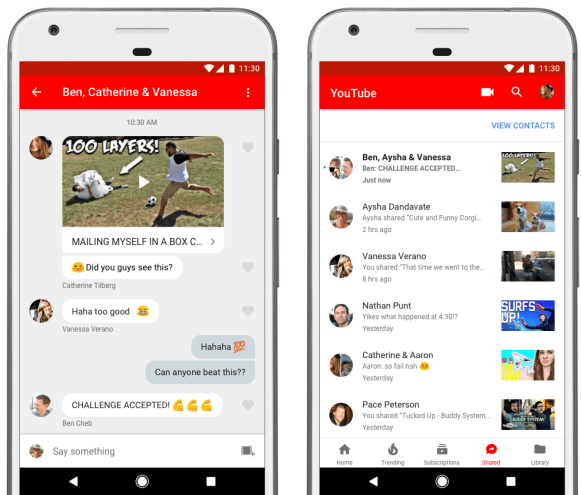 YouTube App Sharing