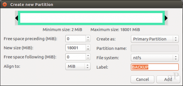 how to create partition linux