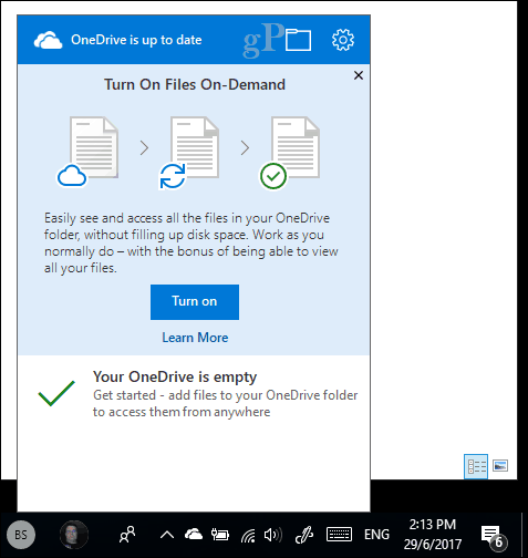 onedrive for business online only windows 10