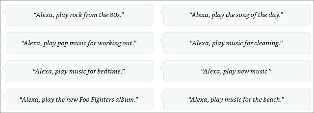 Alexa Music Commands