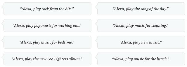 Alexa Music Commands