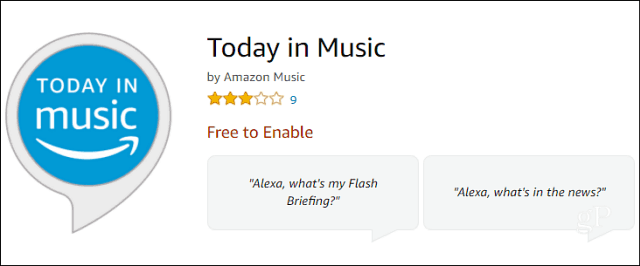 Add Music News to Your Alexa Flash Briefing with 'Today in