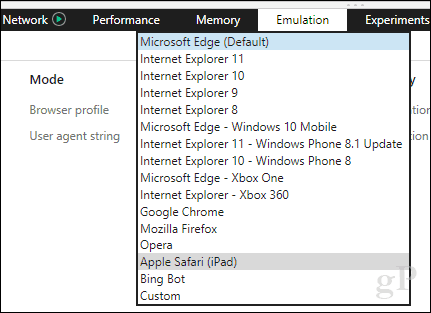 How To Change the User Agent String in Microsoft Edge