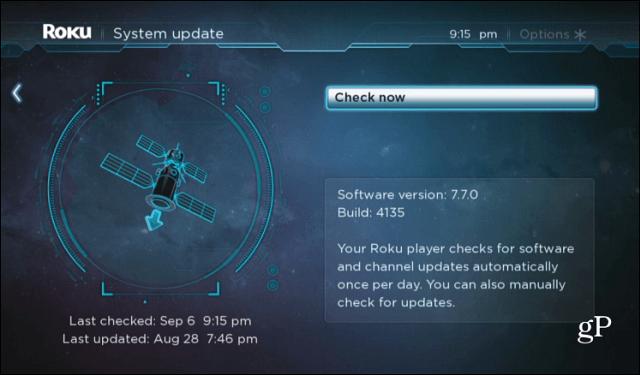Roku System Update