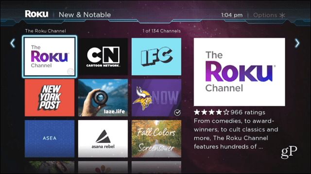 The Roku Channel New and Notable