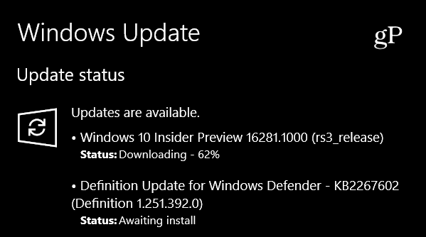 Win 10 Insider Preview Build 16281