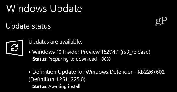 Windows 10 Insider Preview Build 16294