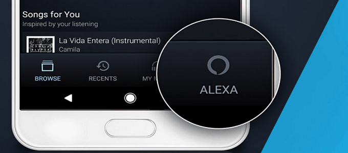 alexa amazon mobile music app