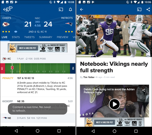 cbs sports android app