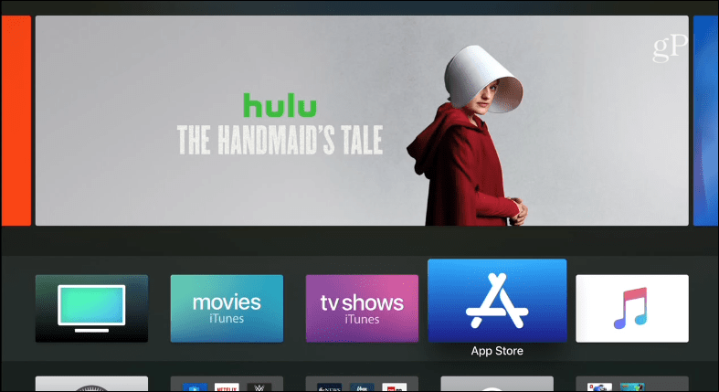 tvOS 11 home screen