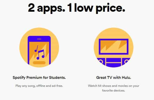 Spotify and Hulu just launched an amazing $5 bundle for college students