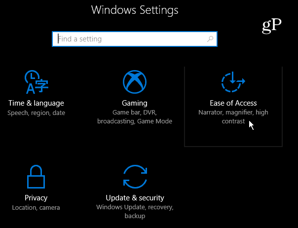 2 Ease of Access Windows 10 Settings