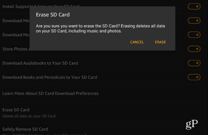 4 Remove or Erase SD Card Fire HD