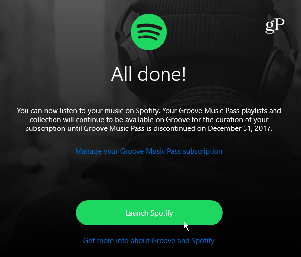 5 Move Finished Launch Spotify