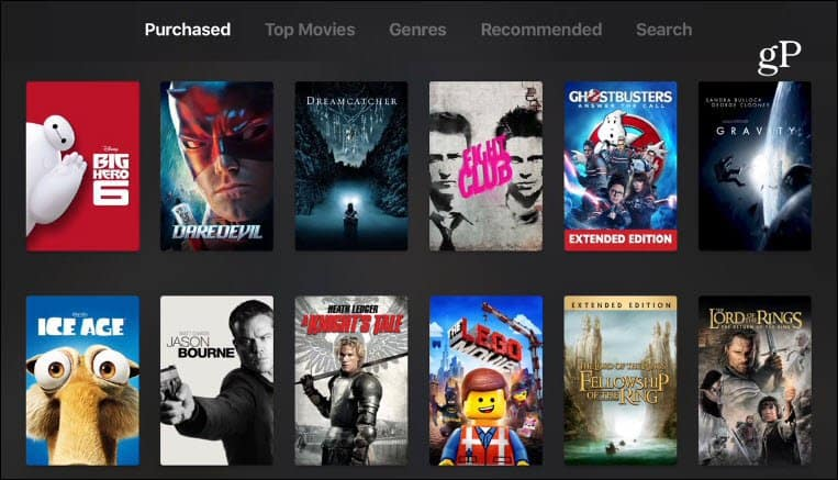 Apple TV iTunes Movies