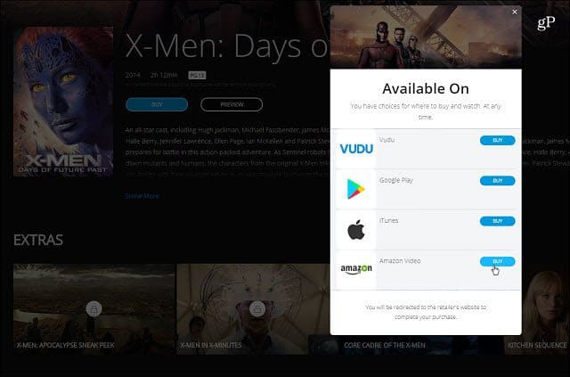 Buy from Movies Anywhere