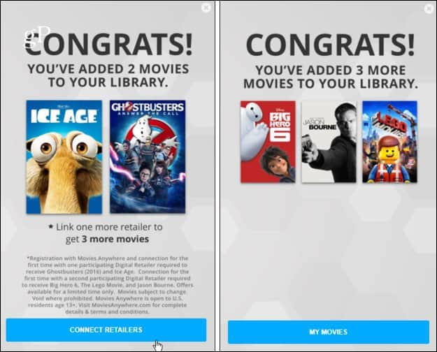 Free movies added to Collection
