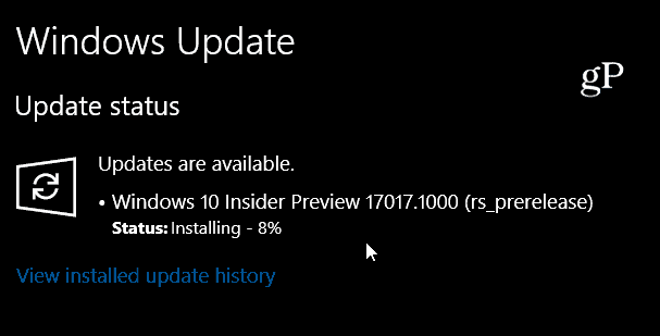 Windows 10 Build 17017