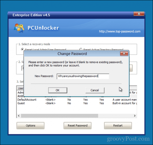 Reset or Bypass Windows 10, 8, 7 Password with PCUnlocker