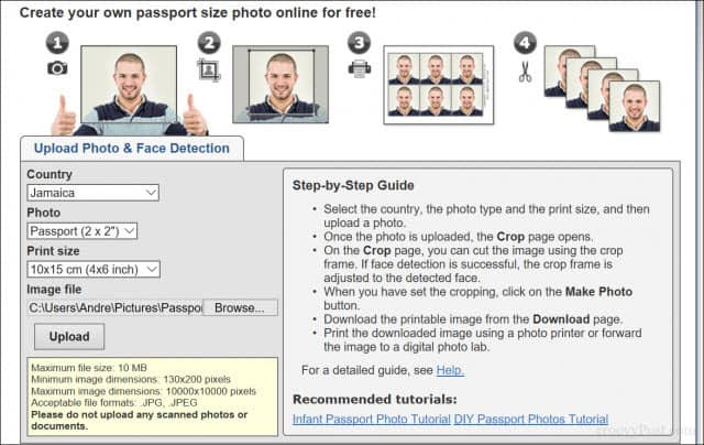 How to Print Passport Photos in Windows 10