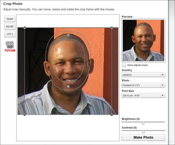 make passport photo