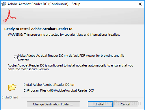 newer version already installed adobe reader dc