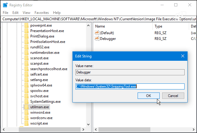 2 Debugger String Value to Snipping Tool