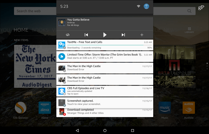 Fire HD 10 Notifications