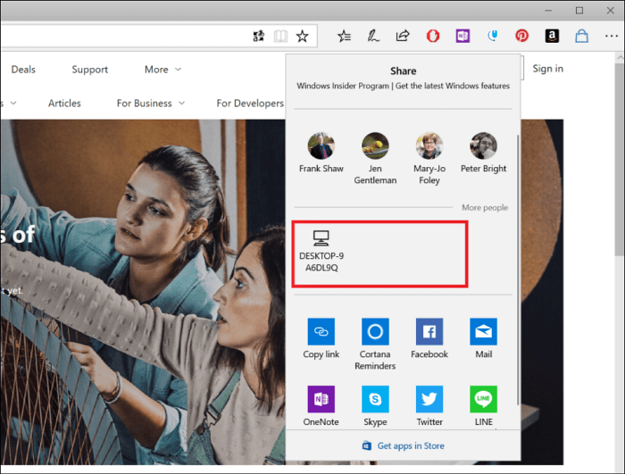 Share Nearby PCs