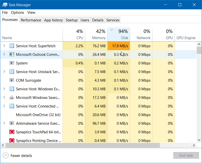 How to Fix 100 Percent Disk Usage in Windows 10
