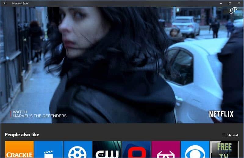 Ứng dụng Netflix Tự động Phát lại Cửa hàng của Microsoft Windows Video 10