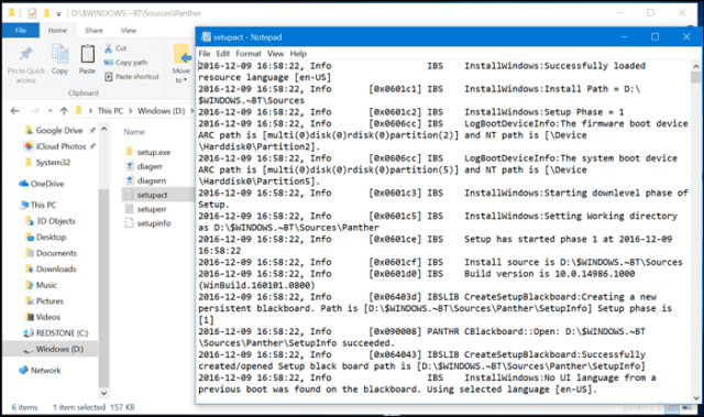 What is the $Windows~BT Folder in Windows 10?