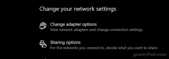 change my network type from public to private
