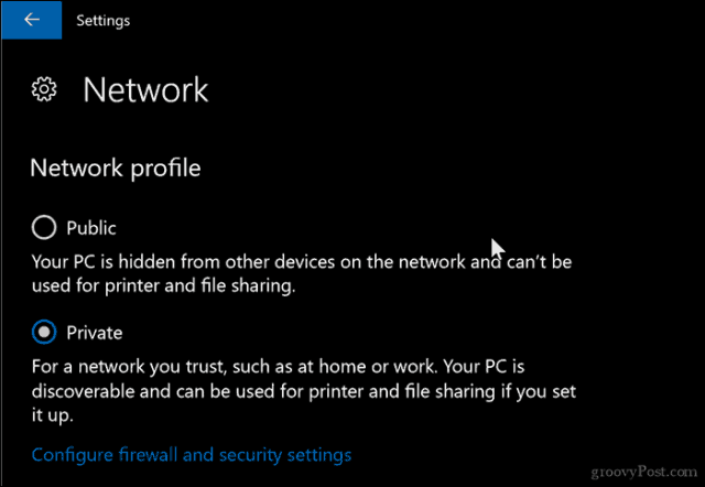How to Change Your Network Profile to Public or Private in Windows 10