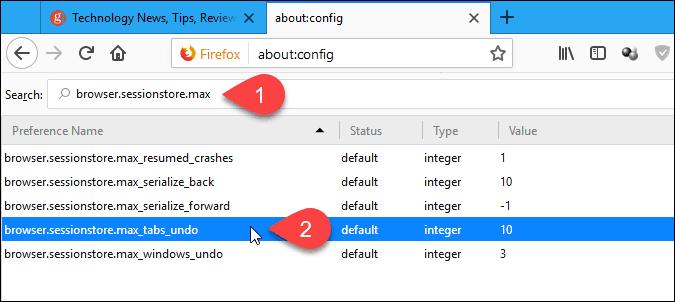 Double-click max_tabs_undo