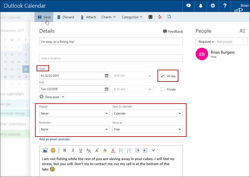 6 Outlook Calendar Event Info