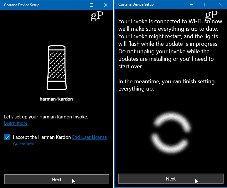 Cortana Device Setup App Windows 10