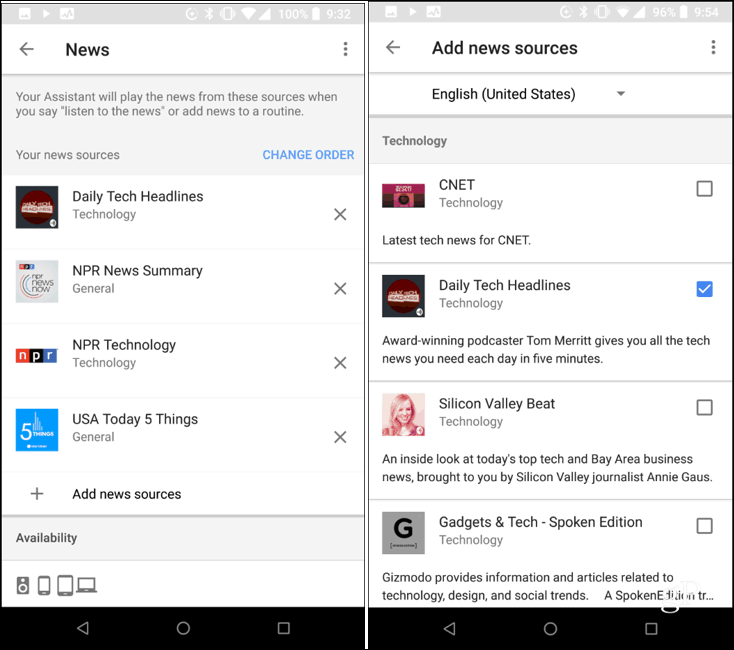 Customize News Feed Google Home