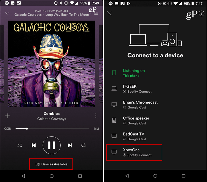 Spotify Connect Device Android