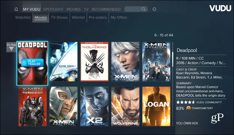 Vudu Xbox One Movies Anywhere