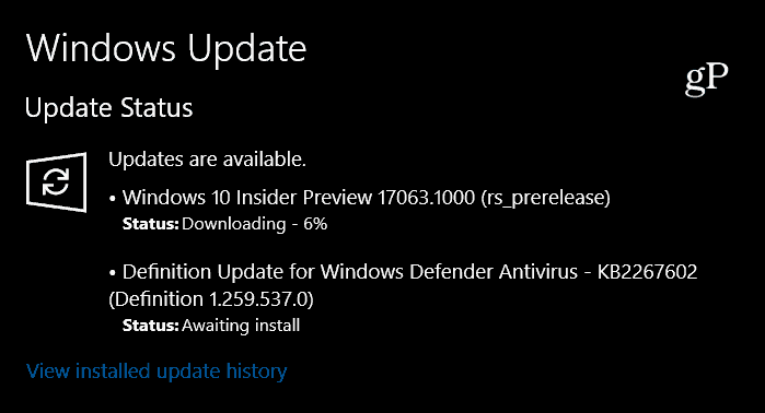 Windows 10 RS4 Preview Build 17063