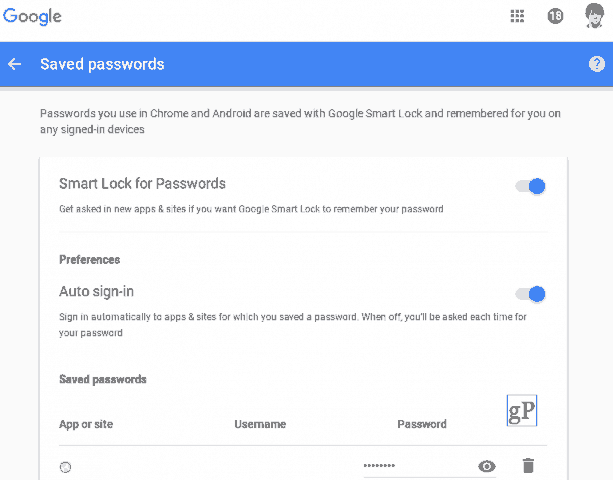 How to View and Delete Saved Google Passwords