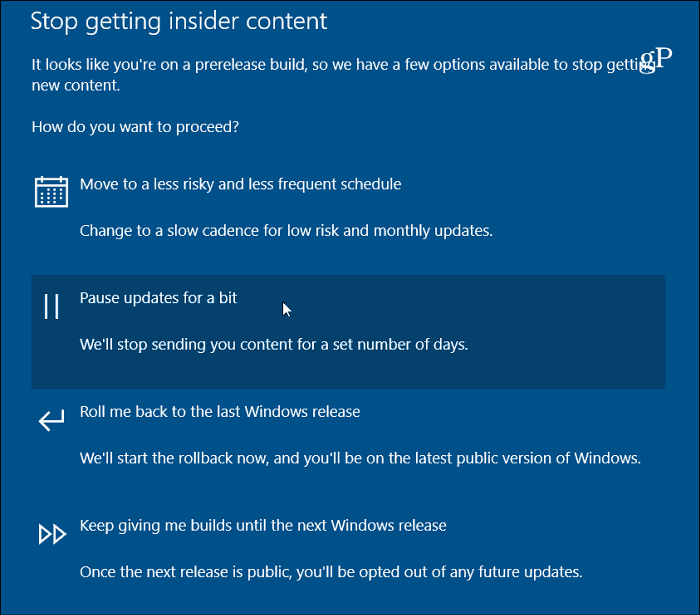 how to turn off insder preview windows 10