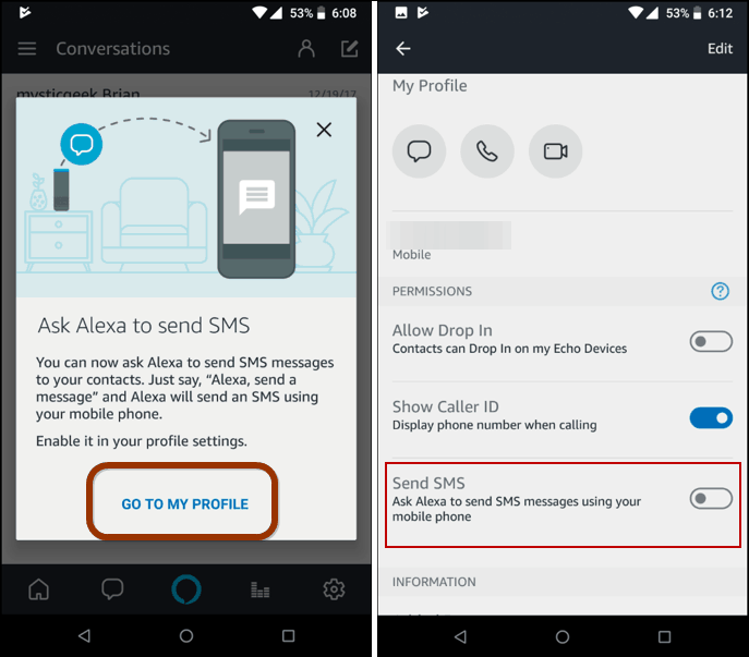 How to Send SMS Text Messages with Alexa on Amazon Echo Devices