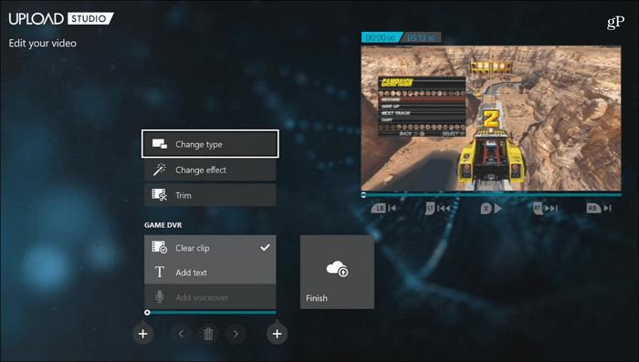 Upload Studio Edit Game Clip