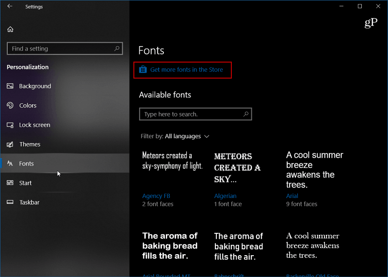 Windows-10-font-settings