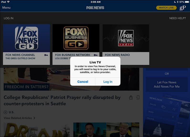 Apple Adds Live News Channels to its TV App for iOS and Apple TV
