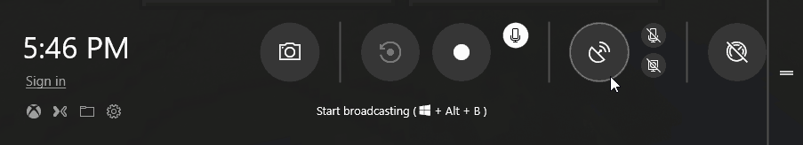 Windows 10 New Game Bar Layout