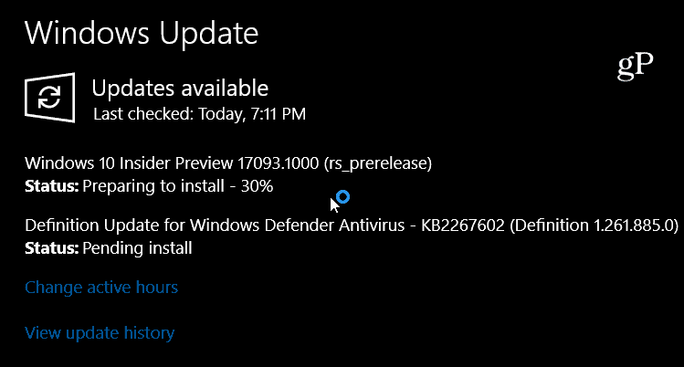 Windows 10 Preview Build 17093
