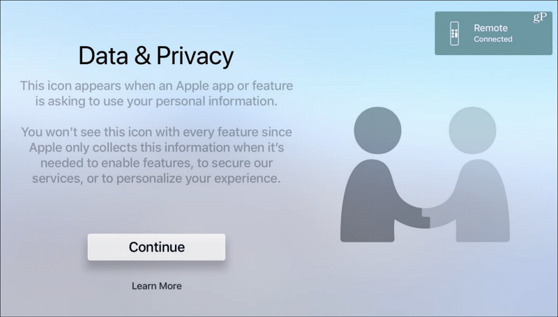 Data and Privacy tvOS Apple TV